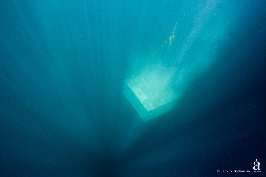 Vue cave plongée